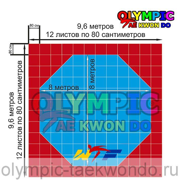 Корт (додянг) восьмиугольный для тхэквондо ВТФ